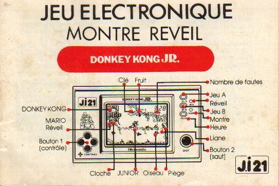 Notice du Game & Watch Donkey Kong Jr. (DJ-101) en version J.i21