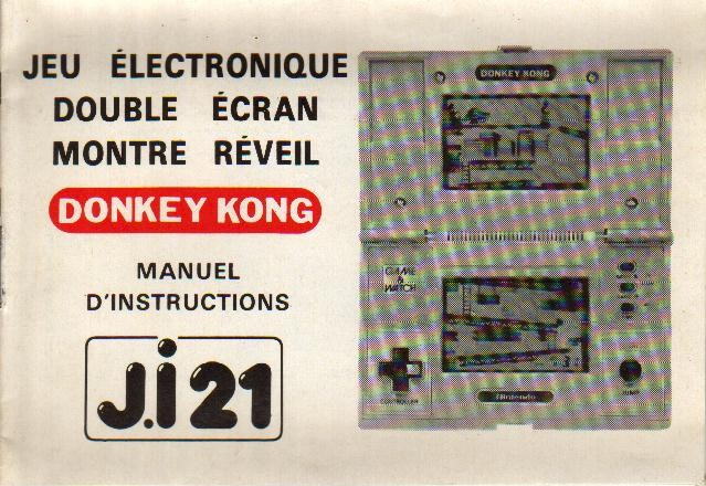 Notice du Game & Watch Donkey Kong (DK-51) en version J.i21 (version 2)