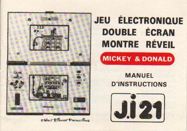 Notice du Game & Watch Mickey & Donald (DM-53) en version J.i21