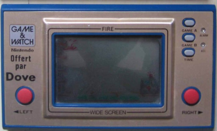 Game & Watch Fire (FR-27) en version promotionnelle pour Dove