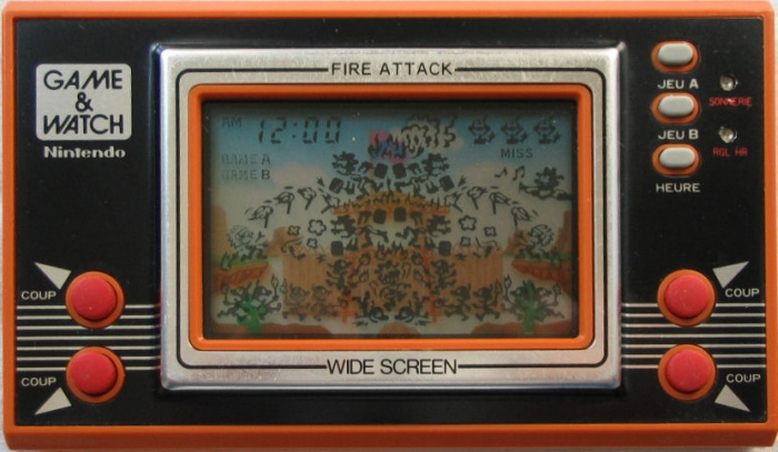 Game & Watch Fire Attack (ID-29) en version J.i21 touches françaises