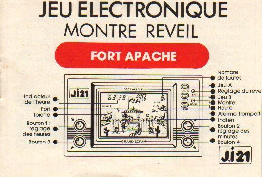 Notice du Game & Watch Fire Attack (ID-29) en version J.i21