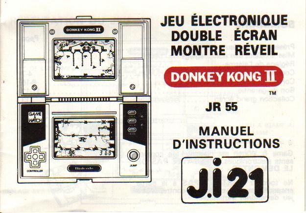 Notice du Game & Watch Donkey Kong II (JR-55) en version J.i21
