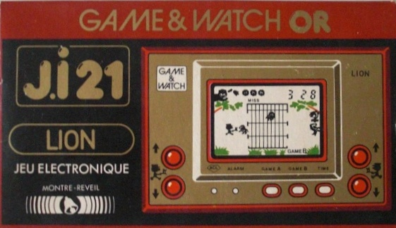 Boite du Game & Watch Lion (LN-08) en version J.i21