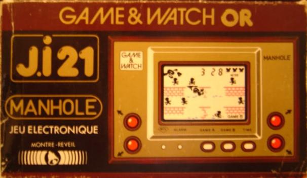 Boite du Game & Watch Manhole (MH-06) en version J.i21
