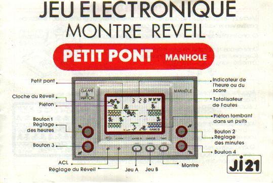 Notice du Game & Watch Manhole (MH-06) en version J.i21