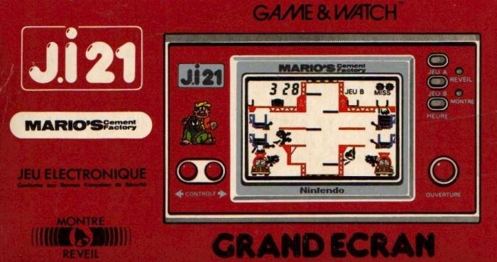 Boite du Game & Watch Mario's Cement Factory (ML-102) en version J.i21
