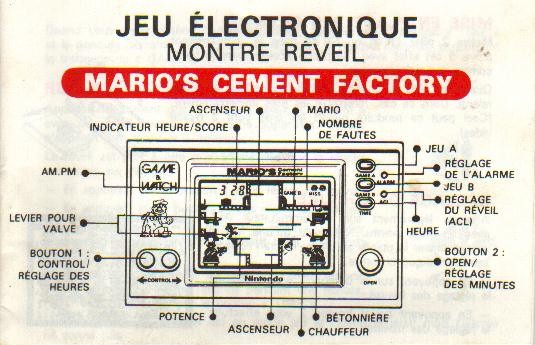 Notice du Game & Watch Mario's Cement Factory (ML-102) en version J.i21