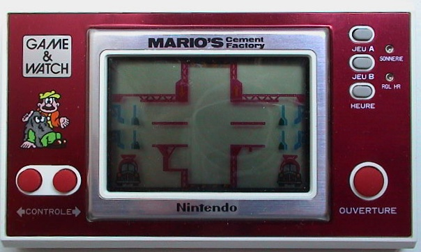Game & Watch Mario's Cement Factory (ML-102) en version J.i21 touches françaises