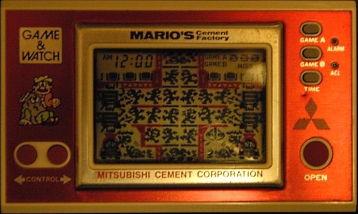 Game & Watch Mario's Cement Factory (ML-102) Version promotionelle pour Mitsubishi Cement Corporation