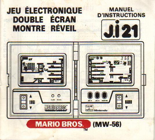Notice du Game & Watch Mario Bros. (MW-56) en version J.i21