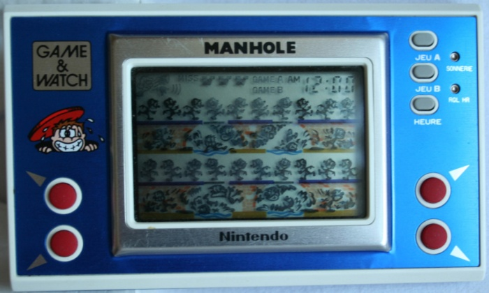 Game & Watch Manhole New Wide Screen (NH-103) en version J.i21 à touches françaises