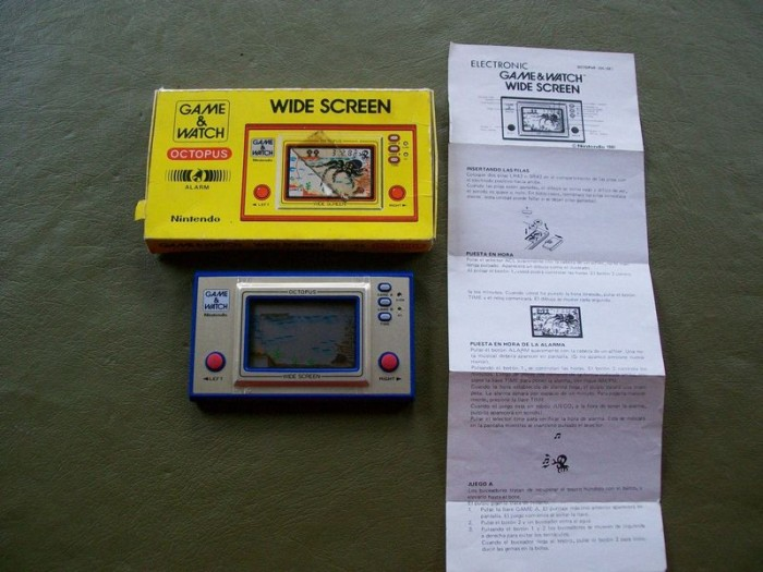 Game & Watch Octopus (OC-22) en version argentine à la vente sur ebay