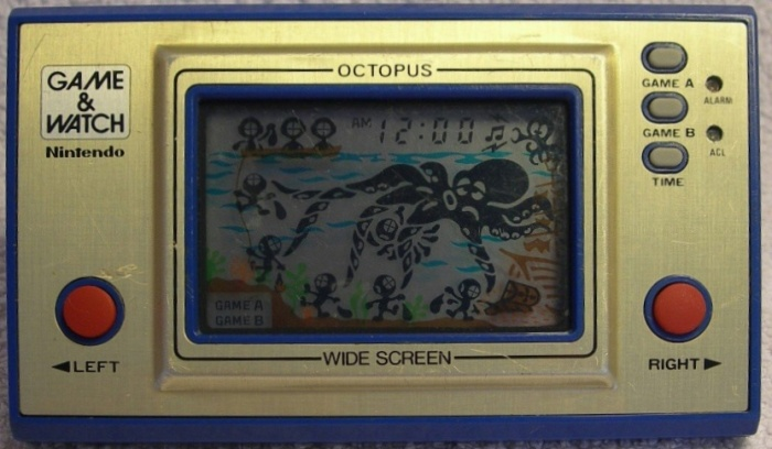 Game & Watch Octopus (OC-22) version argentine