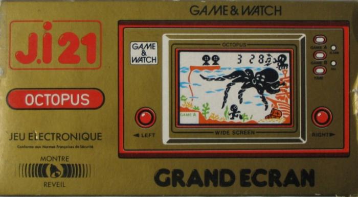 Boite du Game & Watch Octopus (OC-22) en version J.i21