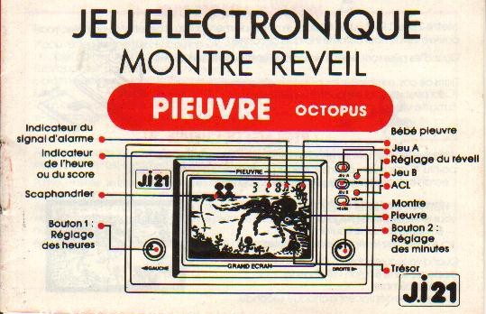 Notice du Game & Watch Octopus (OC-22) en version J.i21