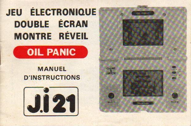 Notice du Game & Watch Oil Panic (OP-51) en version J.i21