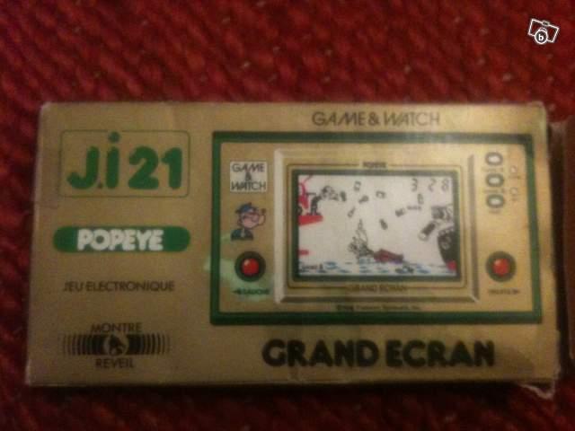 Boite du Game & Watch Popeye PP-23 promotionnel Bosch, il s'agit d'une boite J.i21 normale