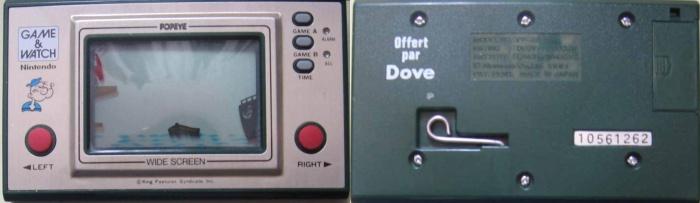Game & Watch Popeye (PP-23) en version promotionnelle pour Dove