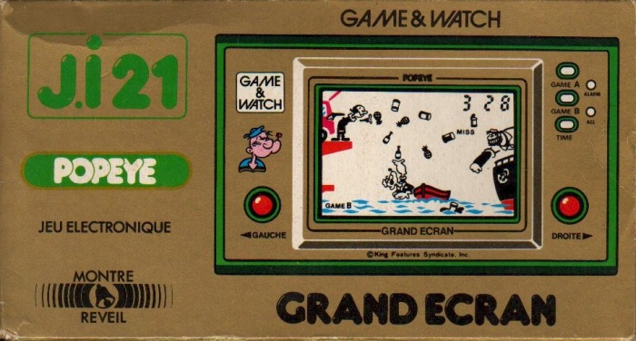 Boite du Game & Watch Popeye (PP-23) en version J.i21