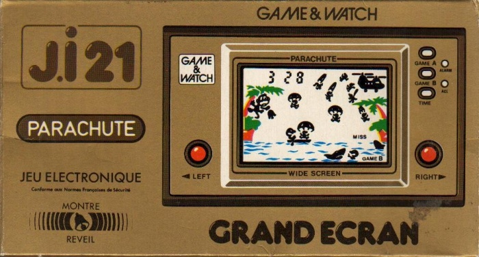 Boite du Game & Watch Parachute (PR-21) en version J.i21