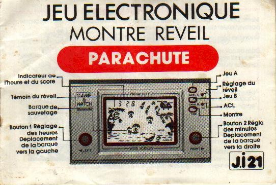 Notice du Game & Watch Parachute (PR-21) en version J.i21