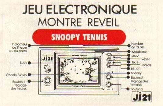 Notice du Game & Watch Snoopy Tennis (SP-30) en version J.i21