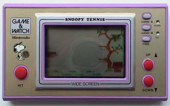 Snoopy Tennis (SP-30) dans sa version standard