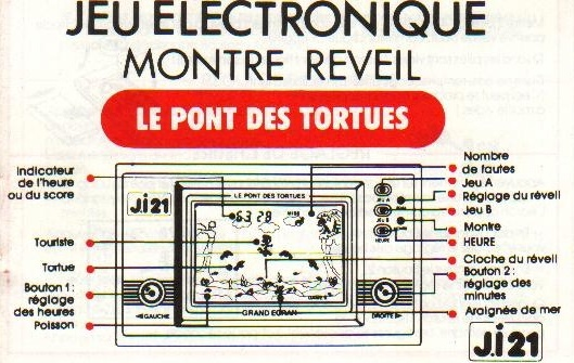 Notice du Game & Watch Turtle Bridge (TL-28) en version J.i21