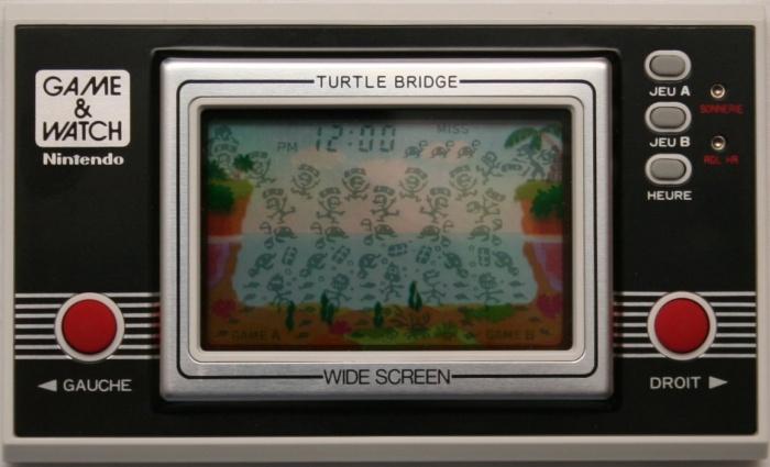 Game & Watch Turtle Bridge (TL-28) en version J.i21 touches françaises