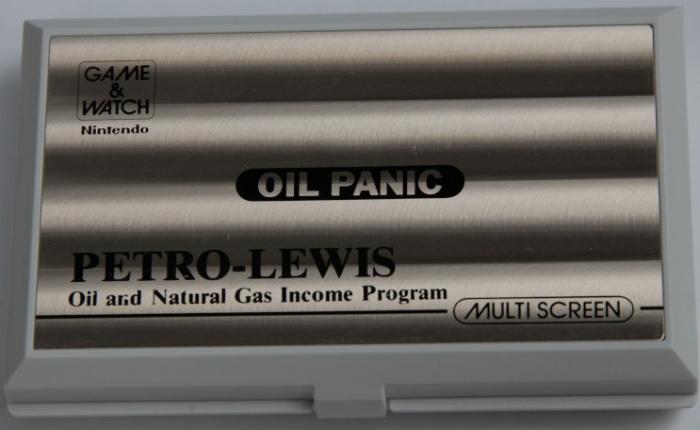 Game & Watch Oil Panic (OP-51) en version publicitaire pour Petro-Lewis