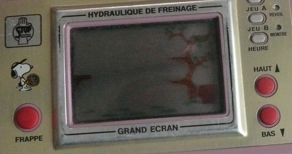 "Game & Watch Snoopy Tennis ""Stop / Hydraulique de Freinage"""